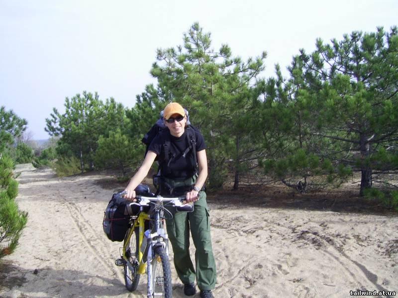 Оксана в велотуре по Крыму